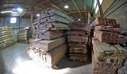Wholesale bundles of decking ready to be shipped